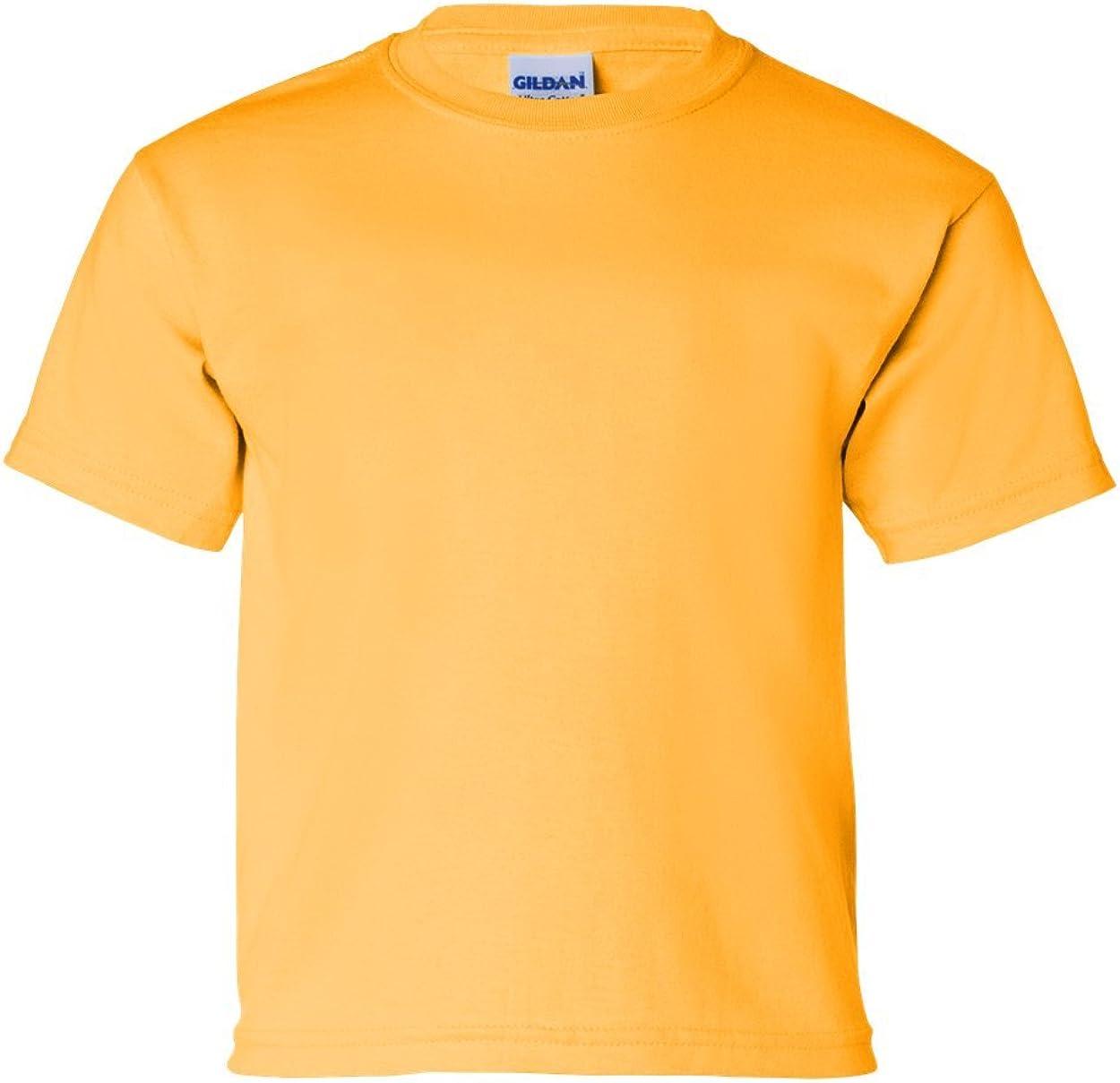 Cotton T-Shirt (G200B) Gold, M (Pack of 12)