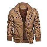 SEENDLW Men Clothes Coat Military Bomber Jacket Outwear Breathable Light Windbreaker Jackets Khaki1 XL