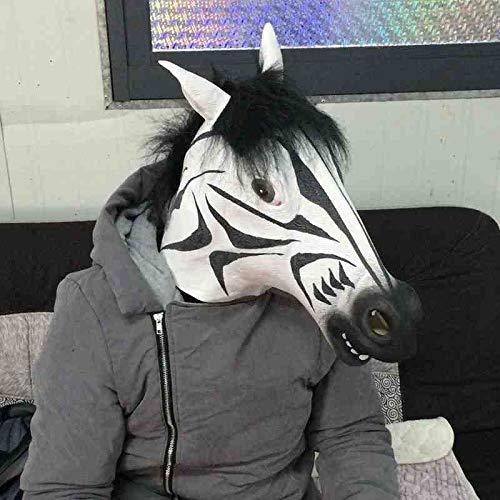 WTNL Halloweenkostuum, latex, Zebra, masker, eenhoorn, paardenkop, kostuum, dierenhelm