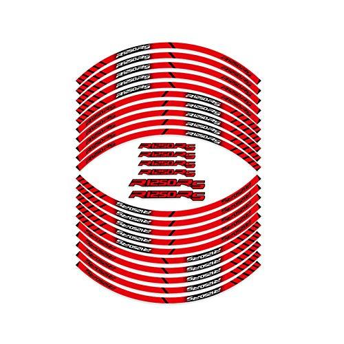 Without Etiqueta de neumáticos de la Motocicleta Pegatina Reflectante de la Rueda de Encargo Decoración de los neumáticos Interiores Calcomanías, Adecuado para R1250RS R1250 RS R 1250 RS (Color : 2)