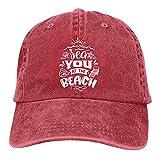 Leumius Sea You at The Beach 3 - Gorra de béisbol ajustable de algodón para papá, rosso, Talla única
