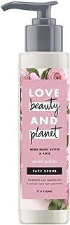 Love Beauty And Planet Muru Muru Boter en Rose Vegan Face Scrub, bescherming en hydraterend, 125 ml