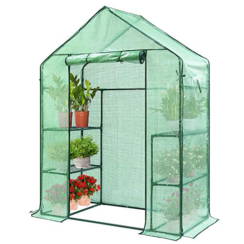 VIVOSUN 56x28x76-Inch Mini Walk in Green House with Window and Anchor Plant Garden Hot House