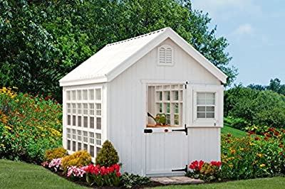 Little Cottage Company Colonial Gable Greenhouse, 10' x 16', Primed Tan