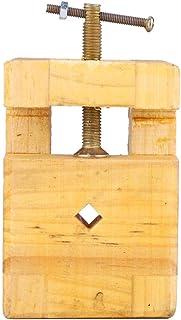 Grampo de mesa resistente ao desgaste de madeira, alicate plano, estável para entalhe de carimbo(Small engraved seal bed)