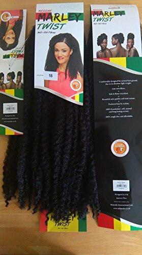 Schlösser, scheut Wendungen. flechten Cherish Marley Braid. Afro Kinky Bulk Hair Twist. Black Colour 1B