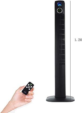 スポットエアコン タワーファン、家庭用サイレントファン、ファン、ファン、フロアファン、垂直リモコン、デスクトップマイナスイオンファン。 (Color : Black, Size : High120cm)