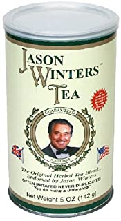 Jason Winters Tea, The Original Herbal Tea Blend, Loose Leaf, 5-Ounce Canisters (Pack of 2)