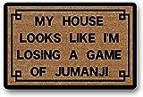 LHM My House LooksLike I'm LosingA Game of Jumanji Welcome Mat Felpudo de bienvenida para el exterior de la casa de bienvenida para interiores de 40 x 60 cm