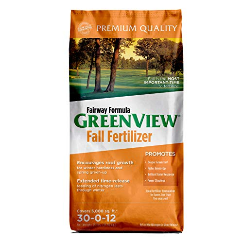 GreenView 2129185 Fairway Formula Fall Fertilizer 25 lb, Covers 5,000 sq. ft