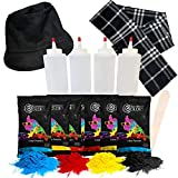 Chameleon Colors Paint Your Own Snowman Kit-Color Powder Snowman Decorating Kit-Includes 8 Packets of Colored Chalk in 4 Colors, 4 Squirt Bottles, Snowman Top Hat, and Scarf-Fun Snow Toys for Kids