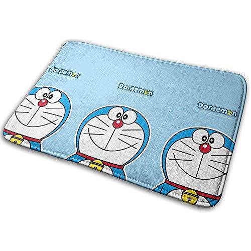 Liuqy Antislip Welcome Fußmatte Smile Doraemon Indoor Outdoor Eingangsteppich Fußmatten Schuhschaber 40cm x 60cm
