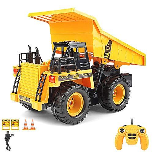azurely RC Auto, Ferngesteuerter Muldenkipper mit Soundeffekten 2,4 GHz 1:22 RC Kipper LKW Modell Baufahrzeug Spielzeug für Kinder