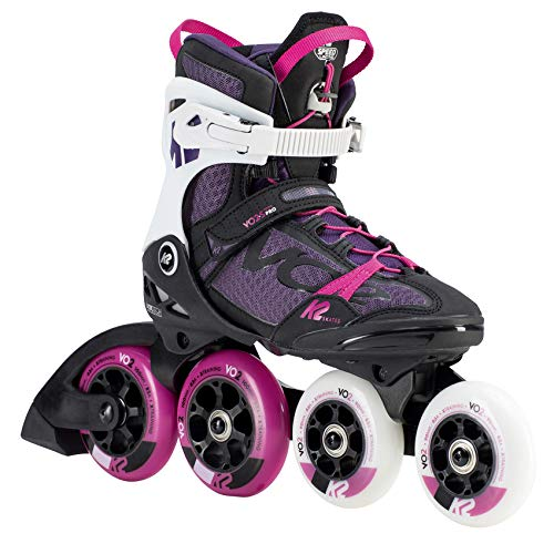 K2 Skates Damen VO2 S 100 X PRO W (Hi Lo) Inline Skates, black-purple-white, 39 EU (5.5 UK)