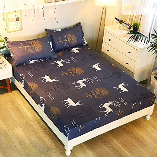 FHQCU Mattress Protector Mattress Covers Popular Pattern Printing Cover for Bed 150X200CM Breathable,A,150 * 200 * 25cm/59 * 79 * 10in