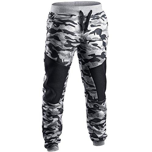 URSING Hommes Pantalons de Sport, Pantalons décontractés, Jeans, Leggings, Pantalons Trou, Pantalons de Yoga, Salopettes Pantalon de survêtement Camouflage pour Homme