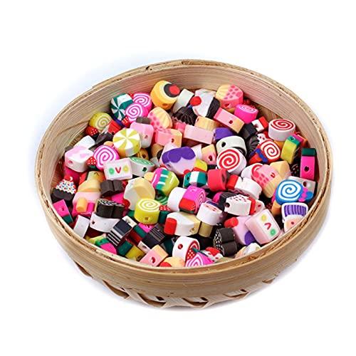 NTZ YC0504 - Juego de 50/100 cuentas espaciadoras de arcilla polimérica de color mixto para collar, pulsera, pendientes y joyas (color: A, diámetro del artículo: 100 unidades)
