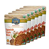 Lundberg Organic Fully Cooked & Ready To Heat White Rice, Spanish Style, 8 Oz (6 Count), Gluten-Free, Vegan, USDA Certified Organic, Non-GMO Project Verified