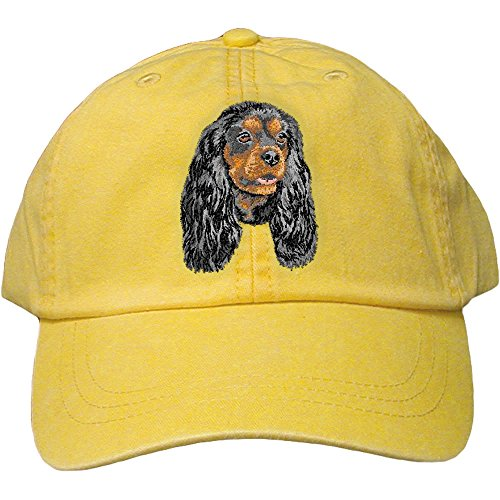 Cherrybrook Dog Breed Embroidered Adams Cotton Twill Caps - Lemon - Cavalier King Charles Spaniel