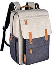 Hap Tim Diaper Bag Backpack Muilti Function Waterproof Large Capacity Travel Diaper Backpack For Baby Care With Stroller Straps Insulated Pockets(K1004-WG-SG)