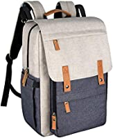 Hap Tim Diaper Bag Backpack Muilti Function Waterproof Large Capacity Travel Diaper Backpack For Baby Care With Stroller...