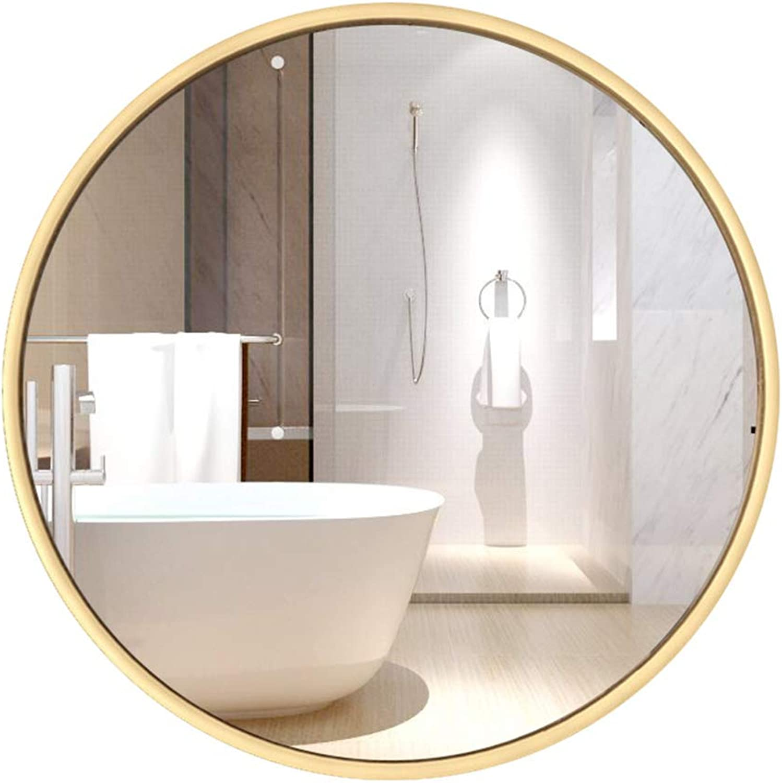 Bathroom Mirror Wall Mirror Make-up Mirror Round Mirror Silver Mirror Mirror Bathroom Mirror (color   gold, Size   30  30  0.5cm)