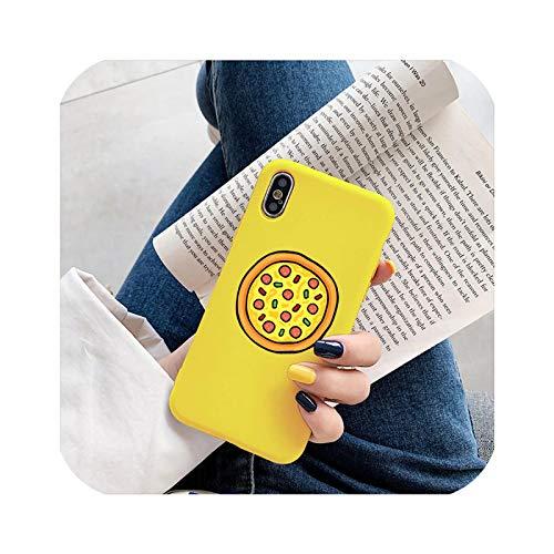 Peach-girl - Carcasa para iPhone 11, diseño de pizza, color amarillo
