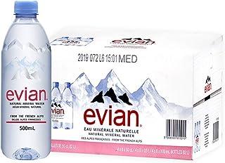依云Evian天然矿泉水500mlx24瓶(英文版) 18年7月生产 法国原装进口