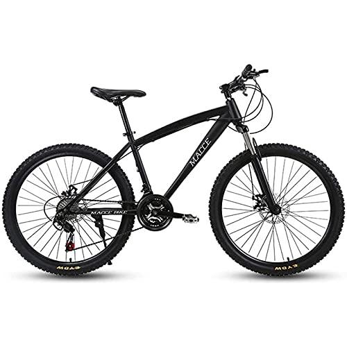 CDPC 24-Zoll-Mountainbike für Erwachsene, Strand-Schneefahrrad, Fahrrad mit Doppelscheibenbremse, Aluminiumlegierungsräder, 21/24/27-Gang-Fahrrad Mountainbike Verstellbarer Sitz für Männer und Fr