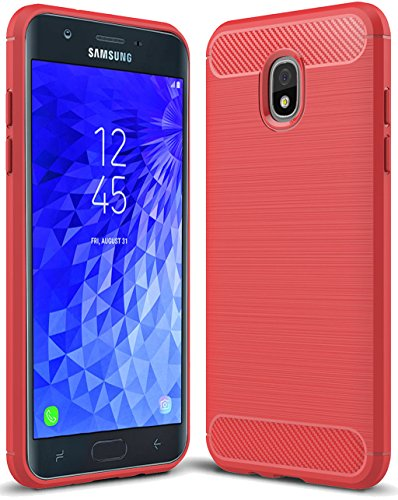 Sucnakp for Samsung Galaxy J7 2018 case, Galaxy J7 V 2nd Gen Case,Galaxy J7 Refine Case,Galaxy J7 Aero,J7 Star,J7 Top,J7 Crown,J7 Aura,J7 Eon,J737V,J737T TPU Protective Case Cover(Red)