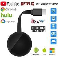 Anycast Stick De TV De 2,4 GHz/Pantalla 5G Wireless HDMI para Google Chromecast 3 Miracast Airplay Dongle para iOS/Android/PC/Netflix,2.4g