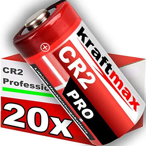 kraftmax 20er Pack CR2 Lithium Hochleistungs- Batterie für professionelle Anwendungen - Neueste Generation
