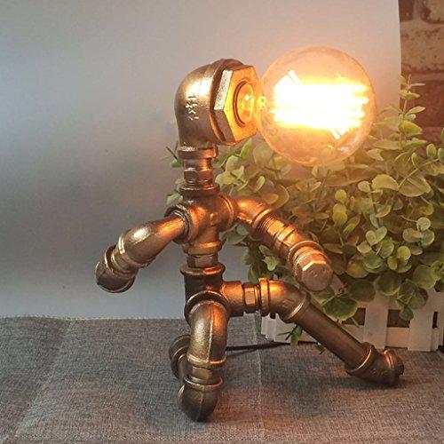 Ywyun lampes de tuyaux de fer punk à vapeur rétro industrielle, haute luminosité LED dimmable lampe de table d'Edison, lampes à économie d'énergie salon chambre café décoré