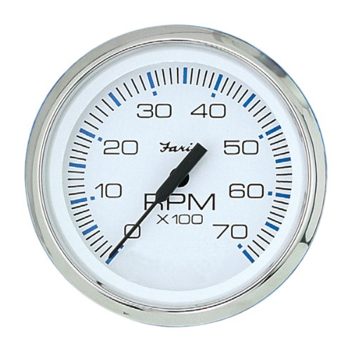 Faria 33817 Chesapeake 7000 RPM Tachometer,White