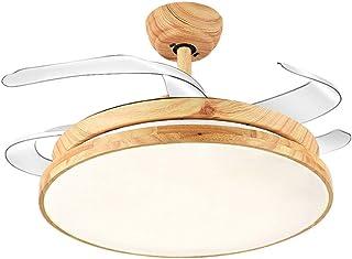 N / A Ventilador de Techo Invisible aspa del Ventilador de Techo con luz de Techo de luz Oculta Modernas lámparas de araña de luz de Madera Vida Sencilla en un Restaurante luz del ventil.