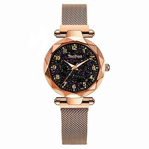 SHOUB Magnetic Starry Y Orologio da Polso da Donna per Le Signore Top Brand Orologio in Oro Rosa Relogio Feminino Orologio da Donna Reloj Mujer
