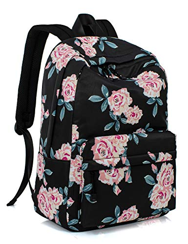 Leaper Fashion Water Resistant School Backpack for Girls Black