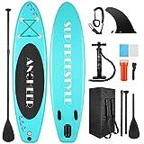 YUEBO Tavola gonfiabile SUP Board Stand up Paddle Board con pompa a mano, pagaia regolabile in altezza in alluminio, cinghia alla caviglia e zaino