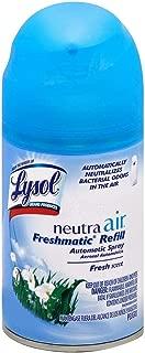 Lysol 19200798310 Neutra Air Freshmatic 6 Refills Automatic Spray, Fresh Scent, Air Freshener, Odor Neutralizer, (5.89 oz) , (Pack of 6)