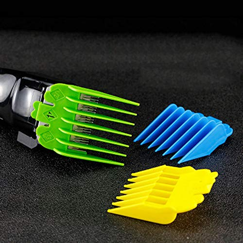 """3 Pcs Professional Colorful Hair Clipper Combs Guides, Wahl Replacement Guards Set 3/8"""" to 5/8"""" Fits Most Size Wahl Clippers/Trimmers"""