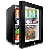 SJSLSJSL Enfriador de Bebidas/Refrigerato de Vino pequeño, Mini refrigerador Congelador Compacto, Congelado + Refrigerado, Sala de Estar, Mini Bar, Bodega eléctrica de 40 litros, Puerta de Vidrio
