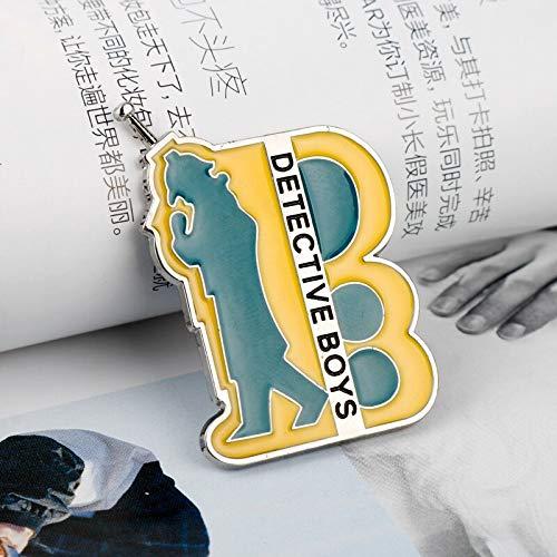 Cartoon Conan Pins für Kleidung Abzeichen Japan Anime Detective Boys Kawaii Icons auf dem Rucksack Pin Brosche Abzeichen