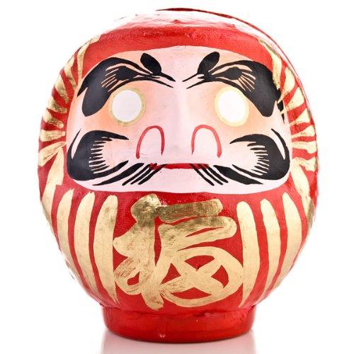 Rote Japanische Daruma Puppe Glücksgott