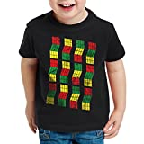 style3 Sheldon Cubo Camiseta para Niños T-Shirt, Color:Nero;Talla:164