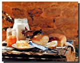 Homemade Country Bread Butter Gore Lebensmittel Stilleben