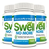 SwellNoMore Pill Reduces Puffy Eyes Bloating Swollen Feet & Swollen Ankles 180 Tablets