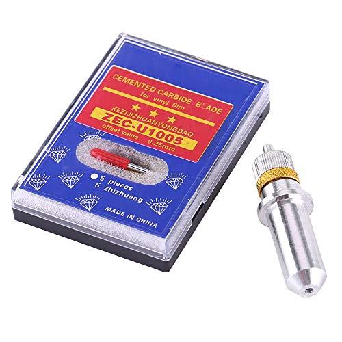 Akozon 15 stücke Tungsten Steel Plotter Cutter Klinge 30, 45, 60 Grad mit Cutter Klingenhalter für Vinyl Schneideplotter Cutter Klingen cutter 45 grad