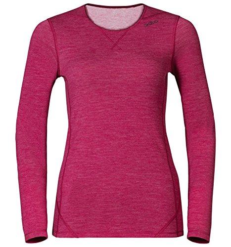 Odlo Revolution TW Warm, T-Shirt à Manches Longues Femme L Rosso (Rosso Prugna)