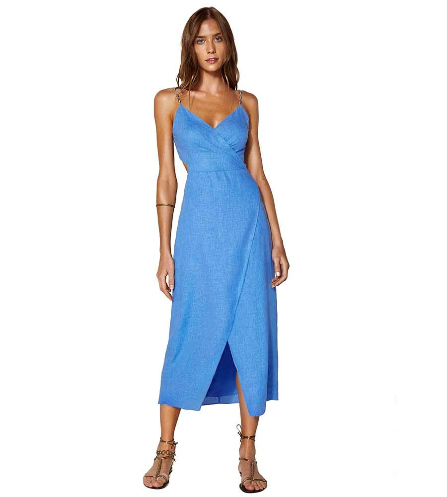 Available at Amazon: ViX Periwinkle Connie MIDI Dress