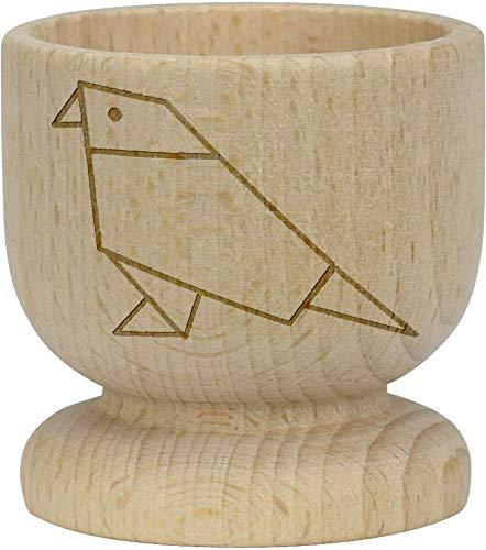 Azeeda 'Origami Vogel' Hölzerner Eierbecher (EC00008197)